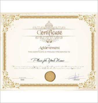 A certificate.