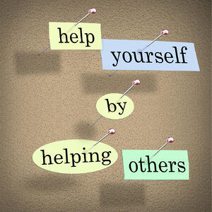 Help yourself by helping others. Customers like giving their business to people they feel that they can trust.