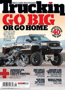 The 40th anniversary cover of Truckin Magazine features some of Erik's beautiful custom paintwork.