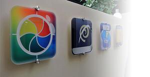 Three app icons