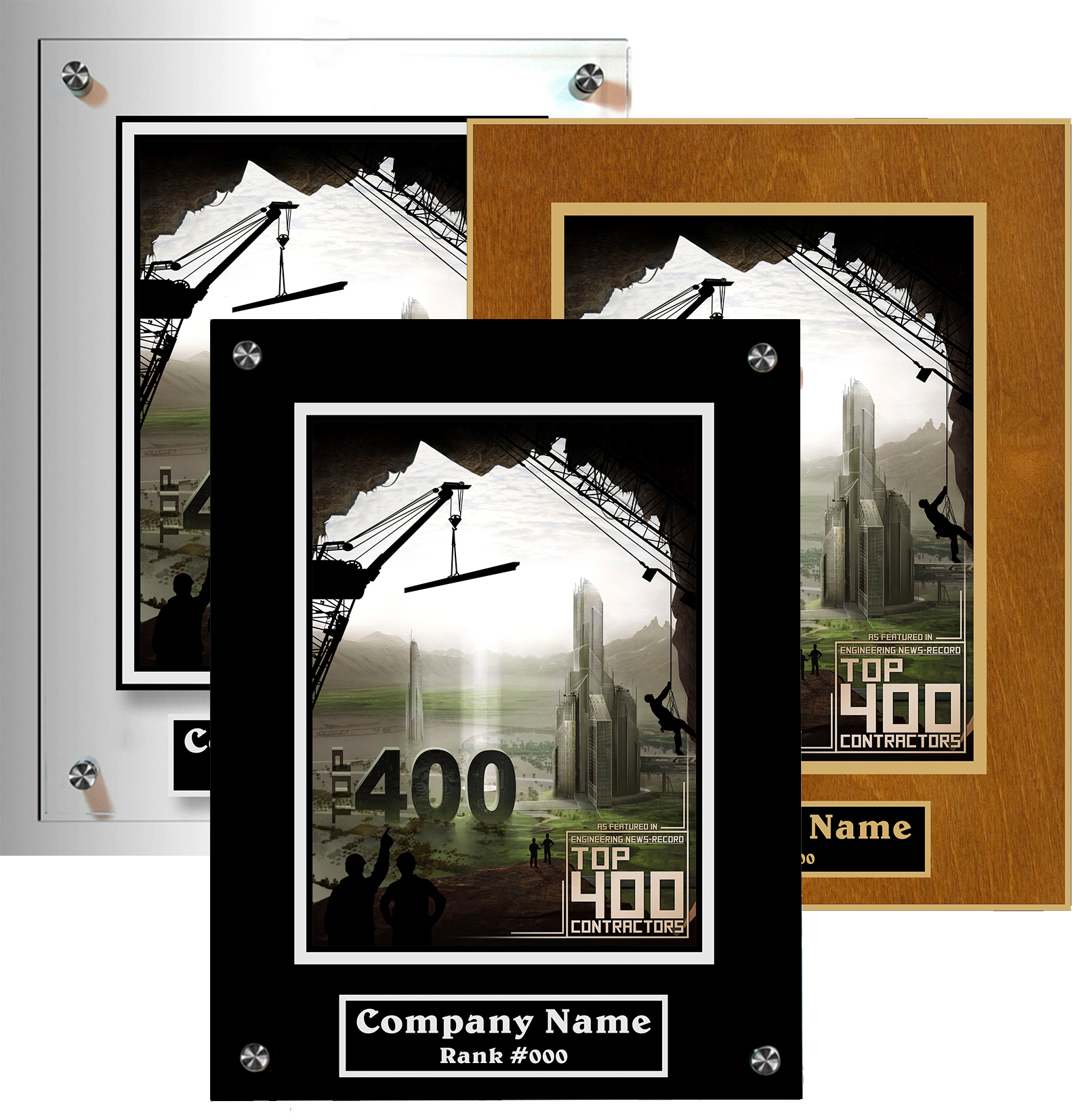 In The News Plaques come in both acrylic and wood styles. Which one is right for you?
