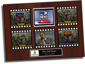 Here's a sample of what a YT video plaque may look like.