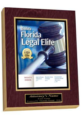 Florida Trend Legal Elite 2018 1-Page Wood