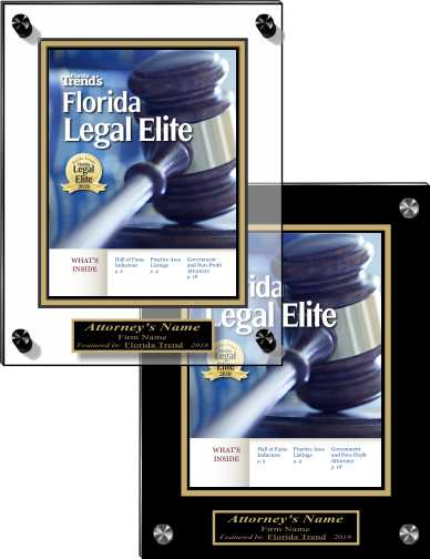 Florida Trend Legal Elite 2018 Acrylic Wall Plaques
