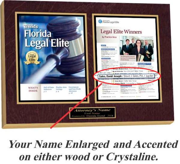 Florida Trend Legal Elite 2018 Wood Plaque-1