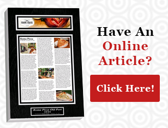 Online Articles Framed, Frame Online Articles, Plaque display online articles