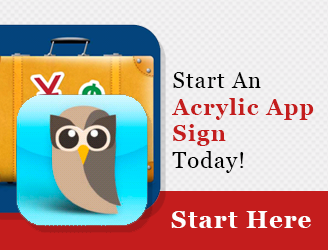Start an Acrylic App Sign Today - sidebar